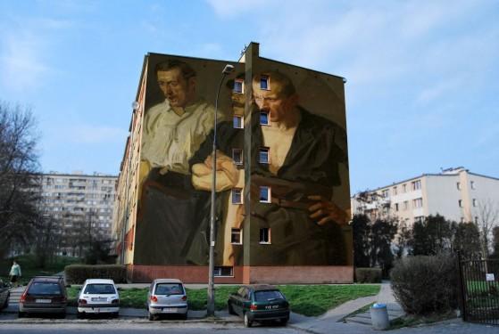 Ulica Lentza 4. Obraz Stanisława Lentza pt. Strajk./Tybur