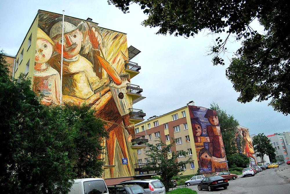 Teoria wybitej szyby Murale w Krakowie