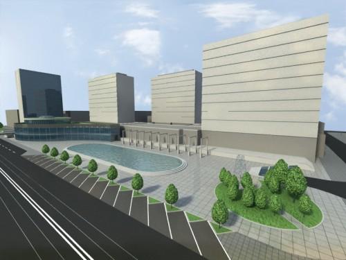 Tak mógłby wyglądać Rynek Krowoderski. Projekt Krzysztofa i Piotra Bieniów.