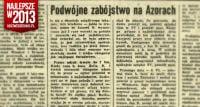 Podwójne zabójstwo na Azorach. Dziennik Polski.