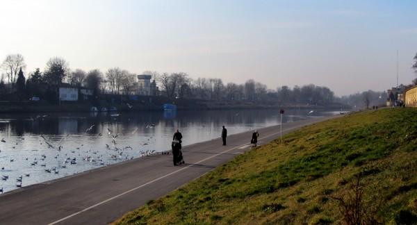 Salwator Kraków, - bulwary Wisły