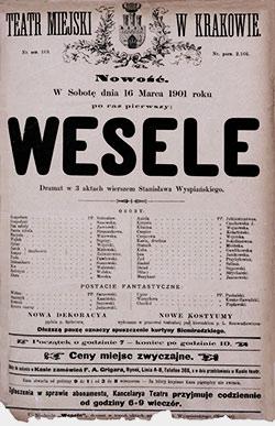 Wesele - plakat - T. Boy-Żeleński