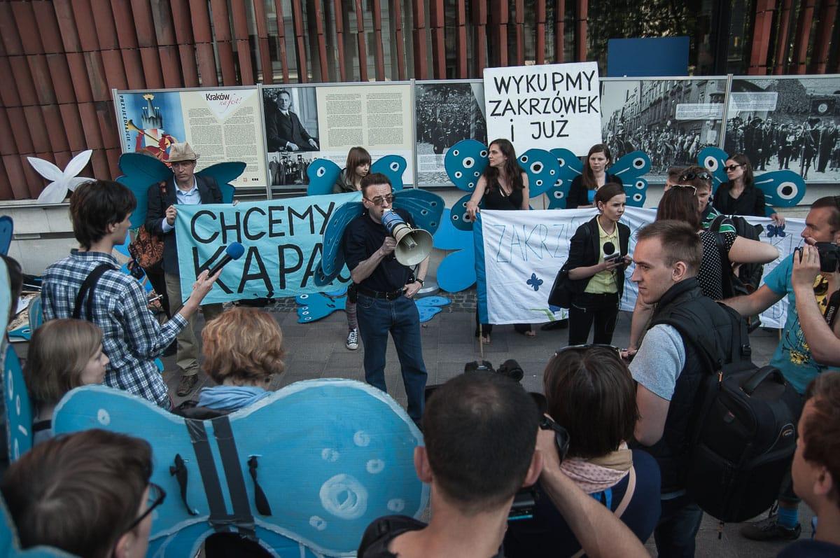 protest w sprawie zabudowy Zakrzówka