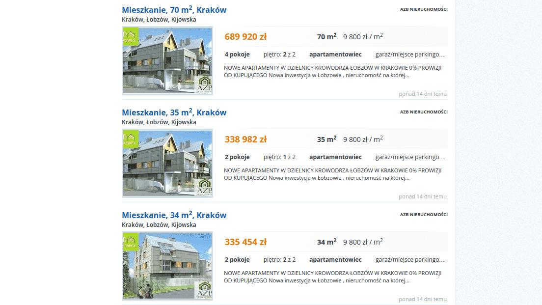 Ceny mieszkań w Krakowie