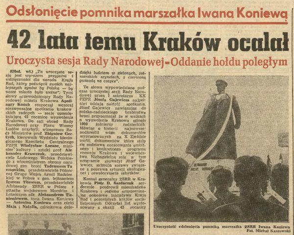 19 stycznia 1988 Pomnik Koniewa