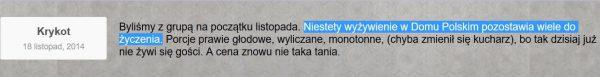 Screen ze strony Domu Polskiego Jana Pawła II