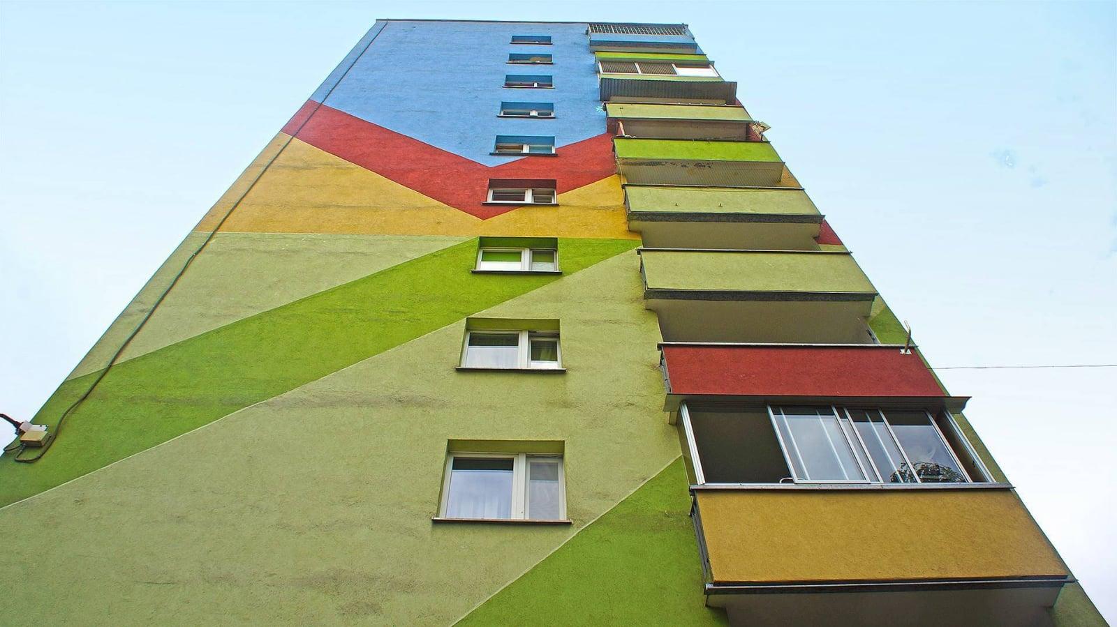 Malowanie bloków: Prokocim, Kraków.