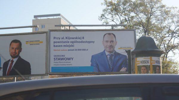 Grzegorz Stawowy. Wybory 2018. Basen przy ulicy Kijowskiej.