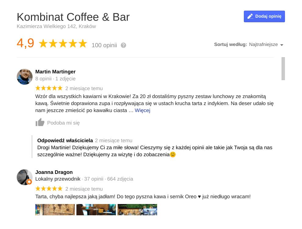 Kombinat Cofee & Bar. Kawa w Krakowie.