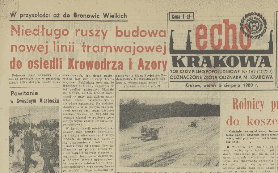 Tramwaj na Azory. Tramwaje w Krakowie.