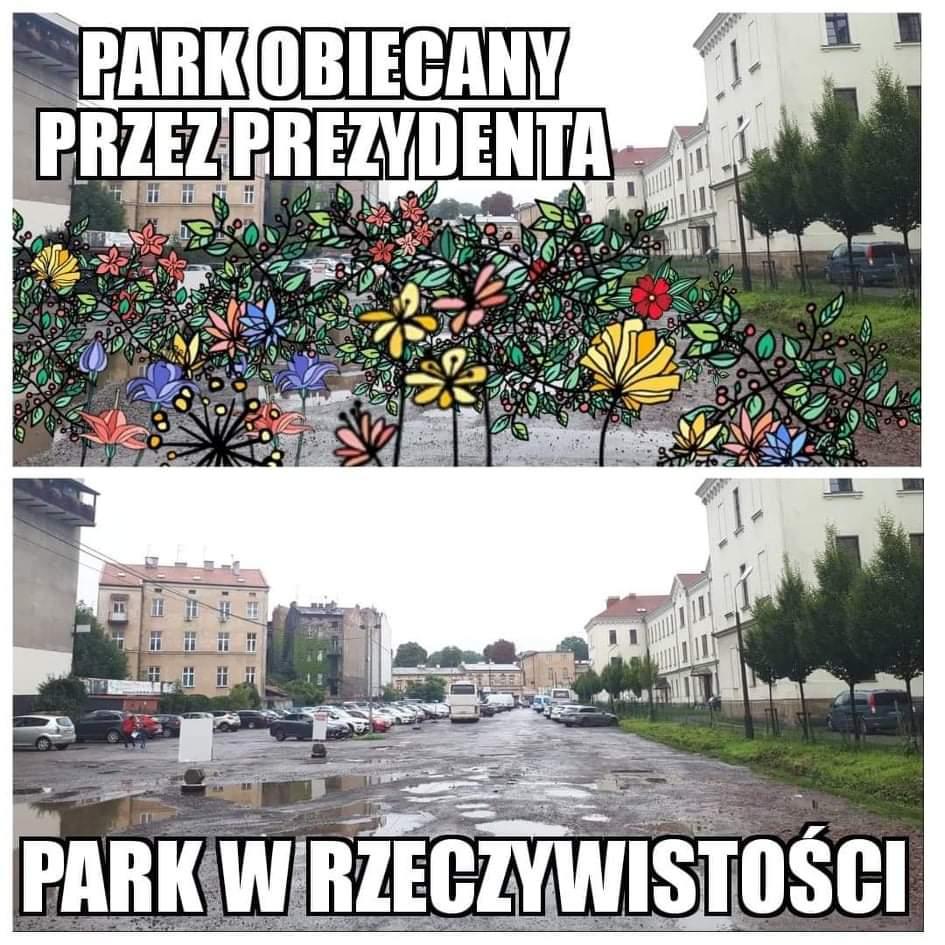Park przy Karmelickiej powstaje od tak dawna, że na jego temat powstały liczne memy.