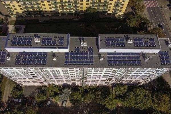Elektrownia Słoneczna na bloku kamienicy fotowoltaika na bloku