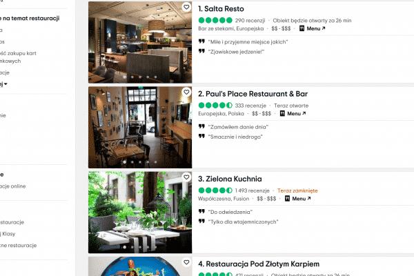 najlepsze restauracje w Krakowie bądź turystą w swoim mieście