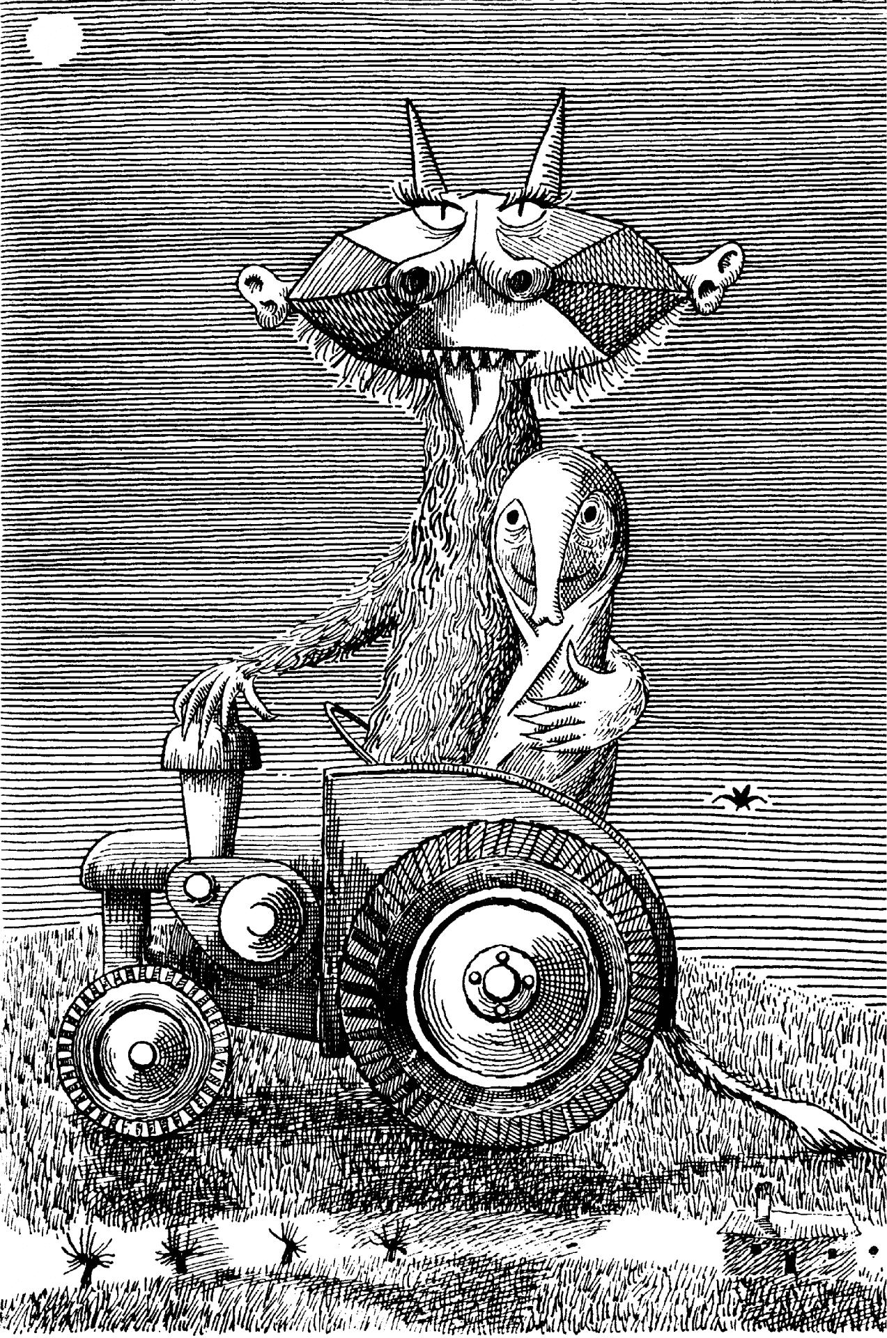 Daniel Mróz zasłynął między innymi ilustracjami do książek Stanisława Lema. Nadawał też ton szacie graficznej Przekroju. Marian Eile bardzo go cenił.