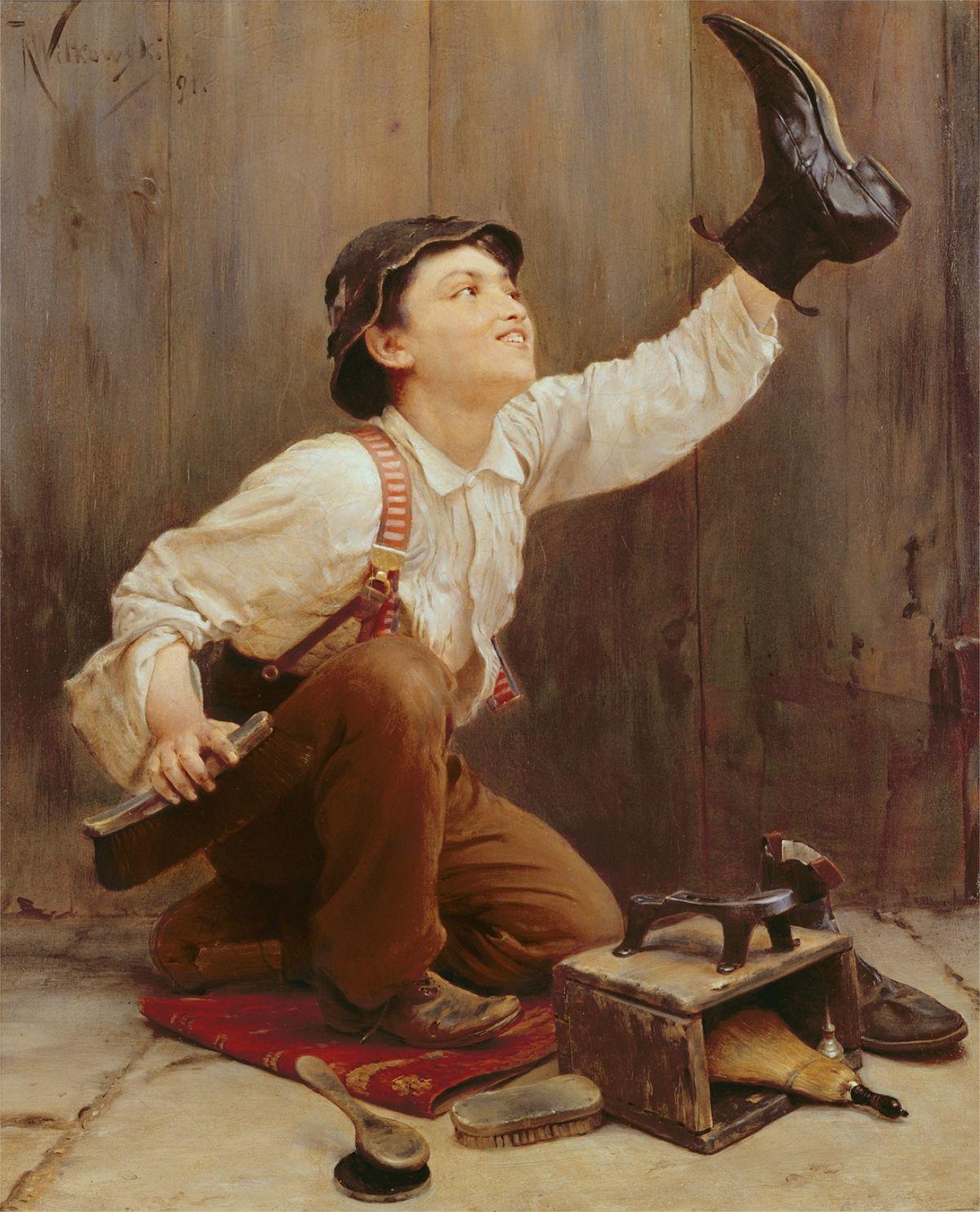 Czyścibut, obraz Karla Witkowskiego z 1891 roku.