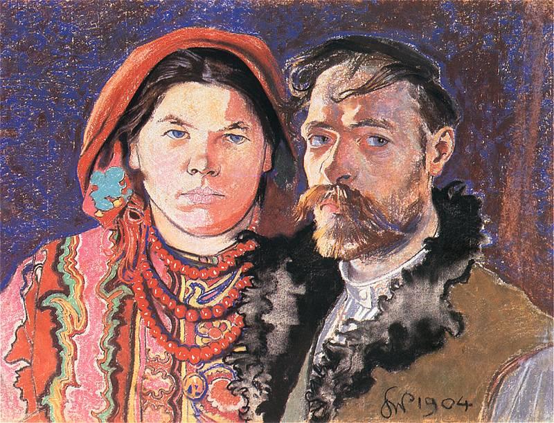 Portret z żoną. Stanisław Wyspiański namalował ten obraz w 1904 roku. Historia ich związku została opisana w książce Służące do wszystkiego.