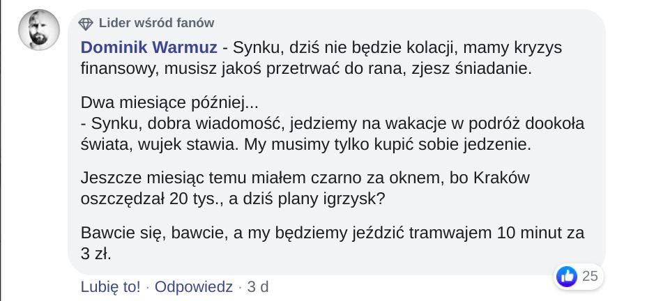 Żarty z igrzysk europejskich w krakowie