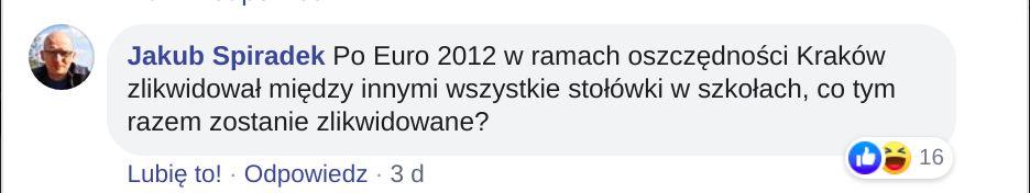Pytania o zyski z igrzysk europejskich w Krakowie.