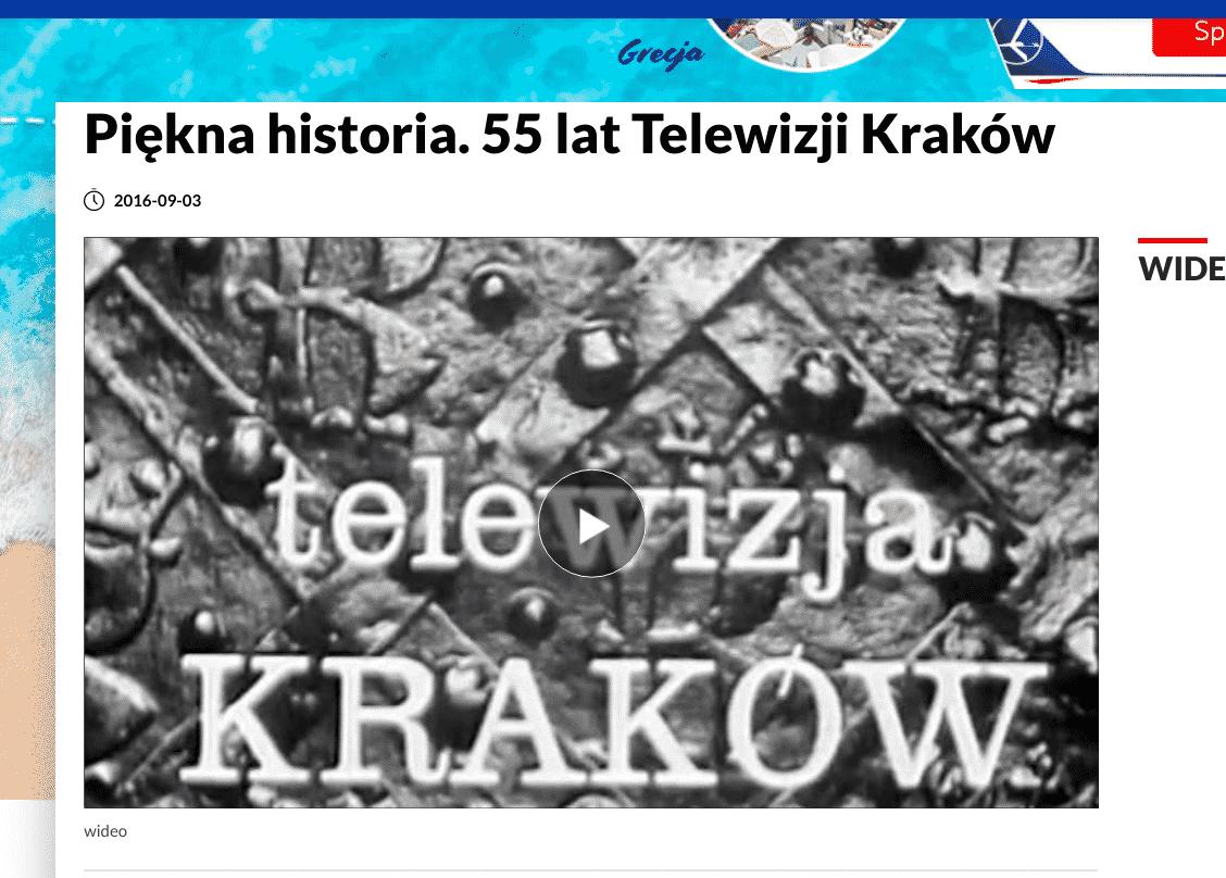Materiał o 55 latach TVP Kraków.