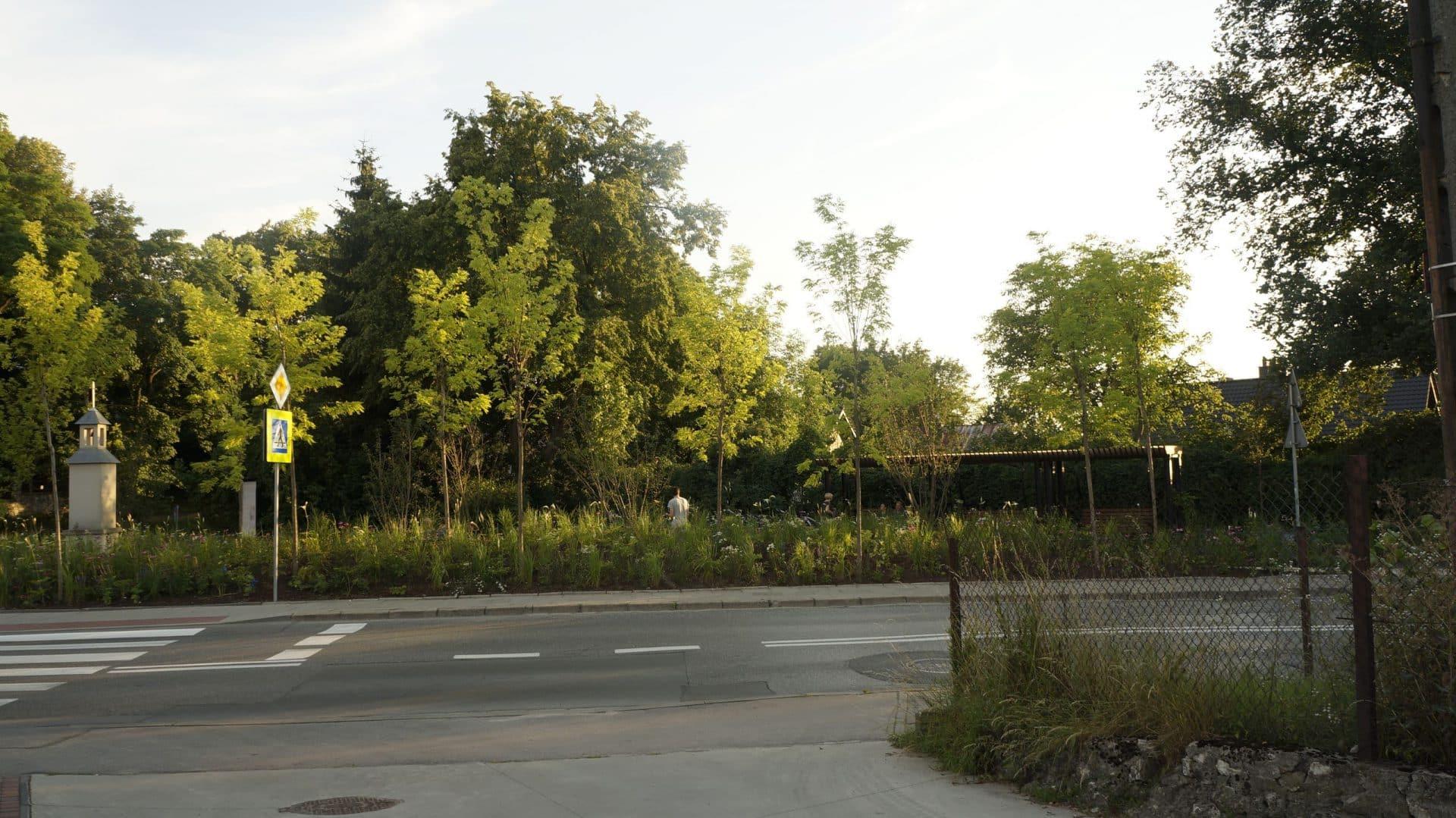 Park kieszonkowy w Mydlnikach.