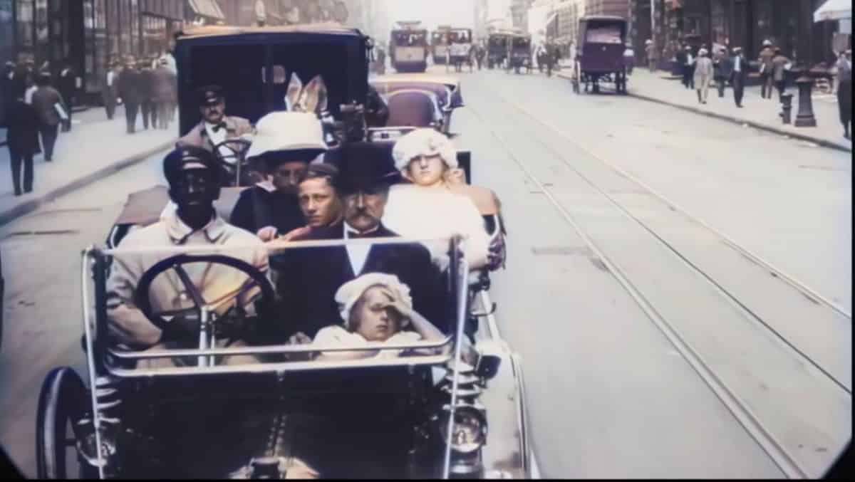 Stuletni Film Nowy Jork Kolor