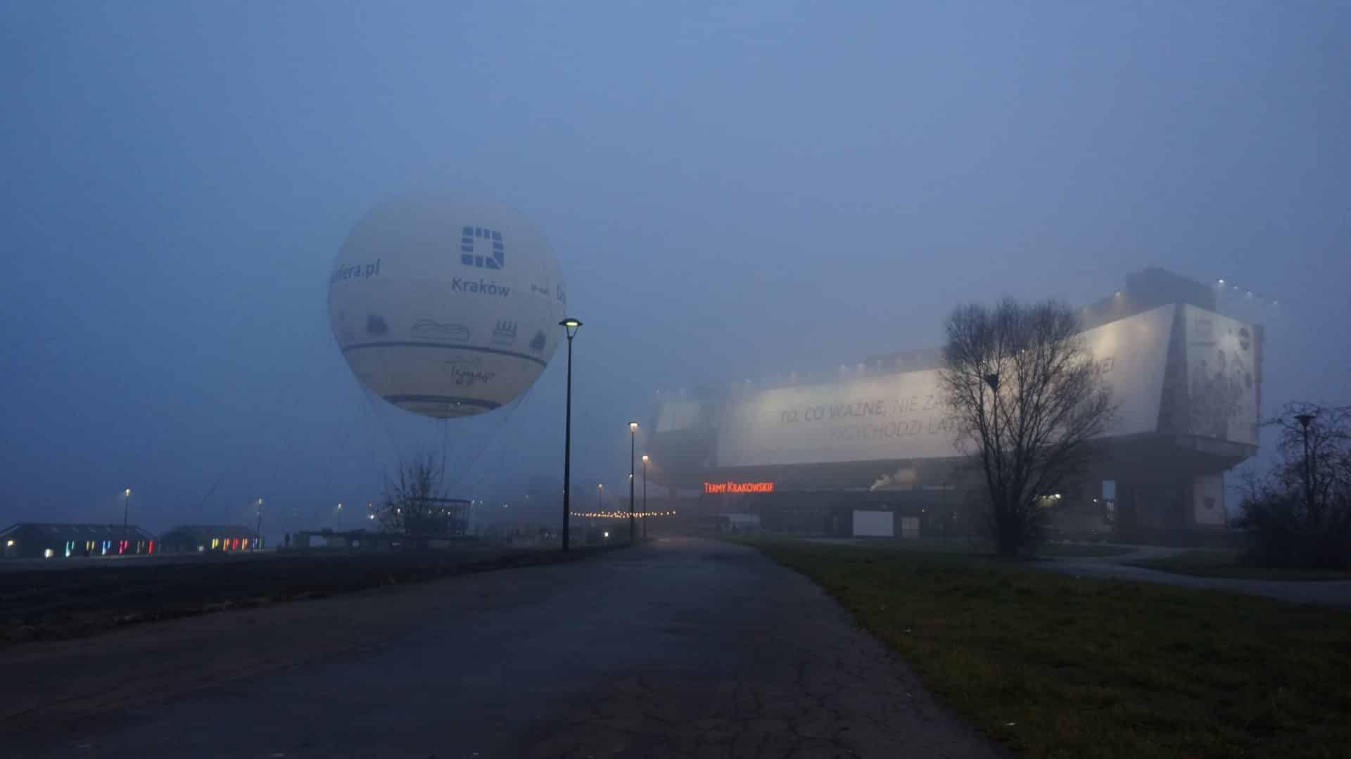Balon widokowy. Kraków.