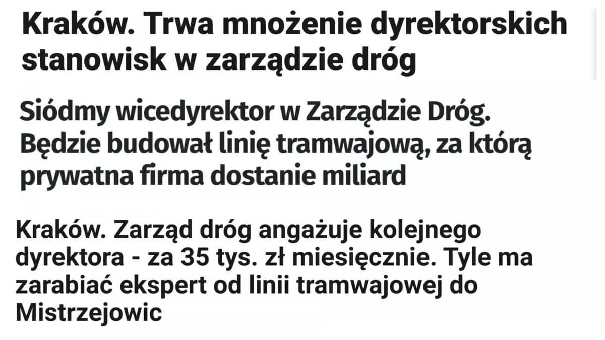 Praca Zarząd Dróg Miasta Krakowa