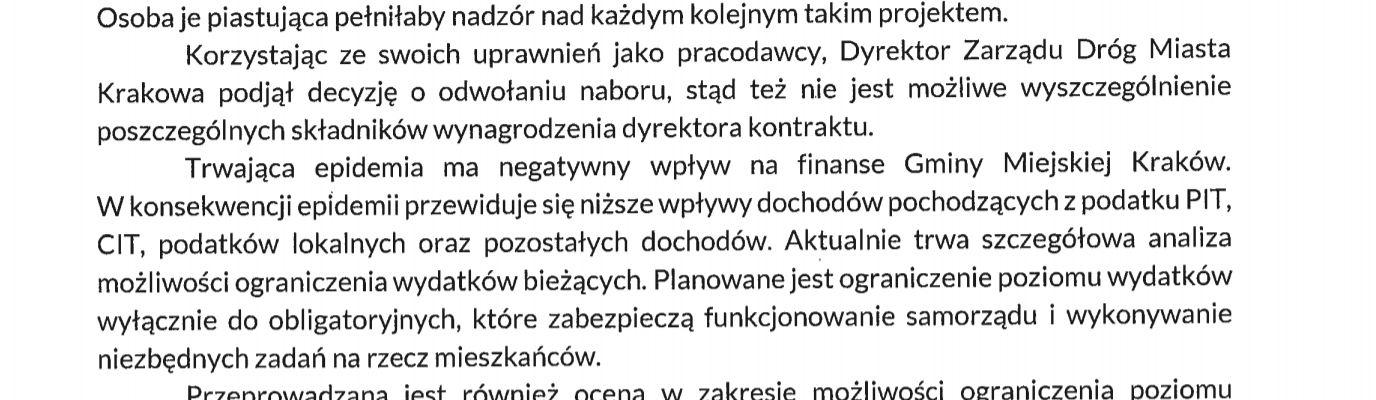 Łukasz Gibała Interpelacja Kraków etaty