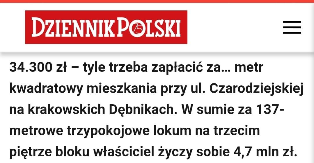 Gdyby nie deweloperzy (...) ceny mieszkań skoczyłyby do poziomów nieosiągalnych dla większości społeczeństwa - mówi Piotr Krochmal w wywiadzie dla serwisu biznes.lovekrakow.pl.