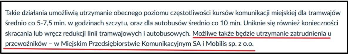 Oficjalny miejski serwis szantażuje mieszkańców, że brak zgody na podwyżki doprowadzi do zwolnień. Źródło: www.krakow.pl