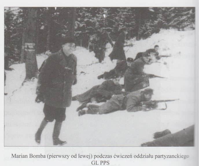 """Marian Bomba był członkiem Gwardii Ludowej. Źródło: Rafał Górski, """"Polscy zamachowcy"""", Wydawnictwo LIBRON."""