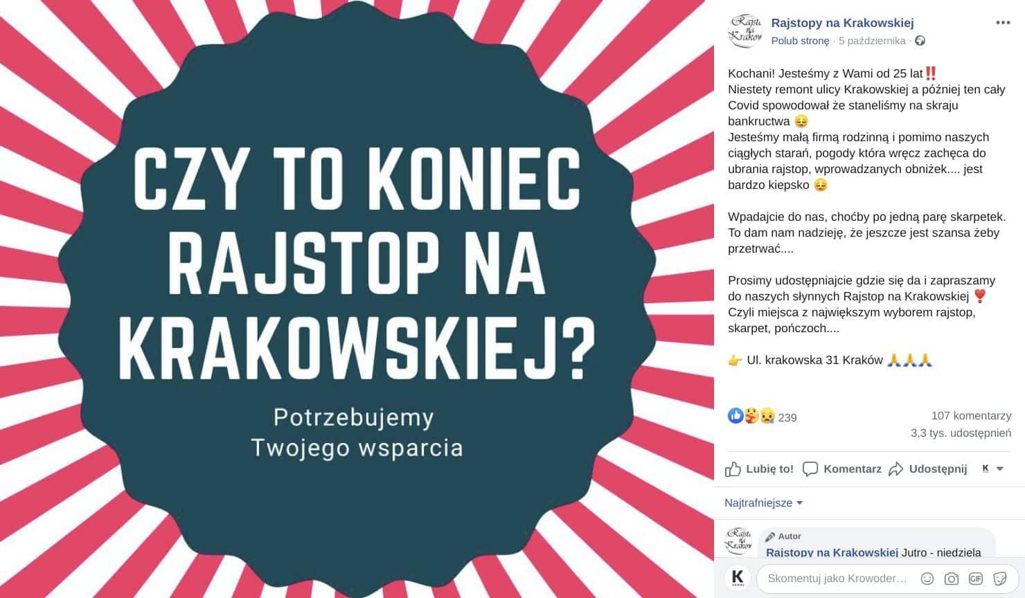 Rajstopy na Krakowskiej Kraków ul. Krakowska