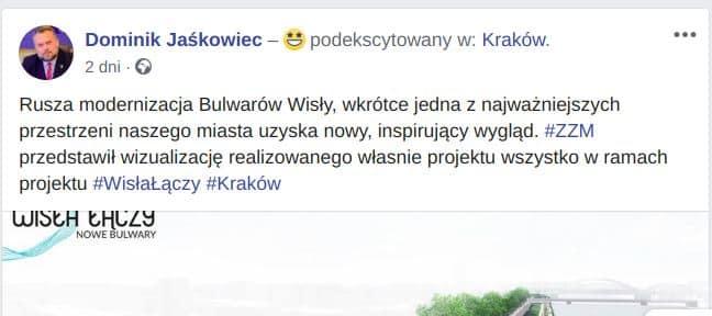 Przewodniczący rady miasta Dominik Jaśkowiec zapowiada, że rewitalizacja bulwarów wkrótce zmieni tę część miasta.