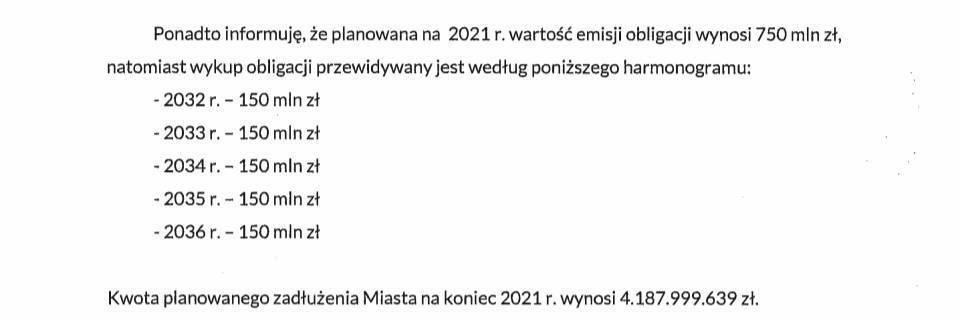 Obligacje Kraków Spłata