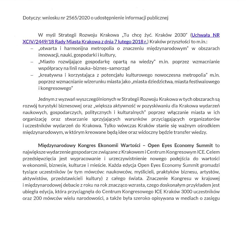 Open Eyes Economy Summit Kraków