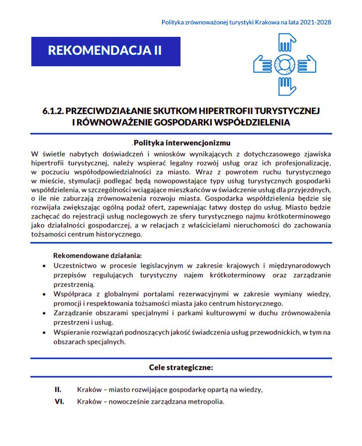 """Źródło: """"Polityka zrównoważonej turystyki Krakowa na lata 2021-2028""""."""