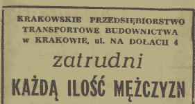 Ogłoszenie o pracę Kraków.