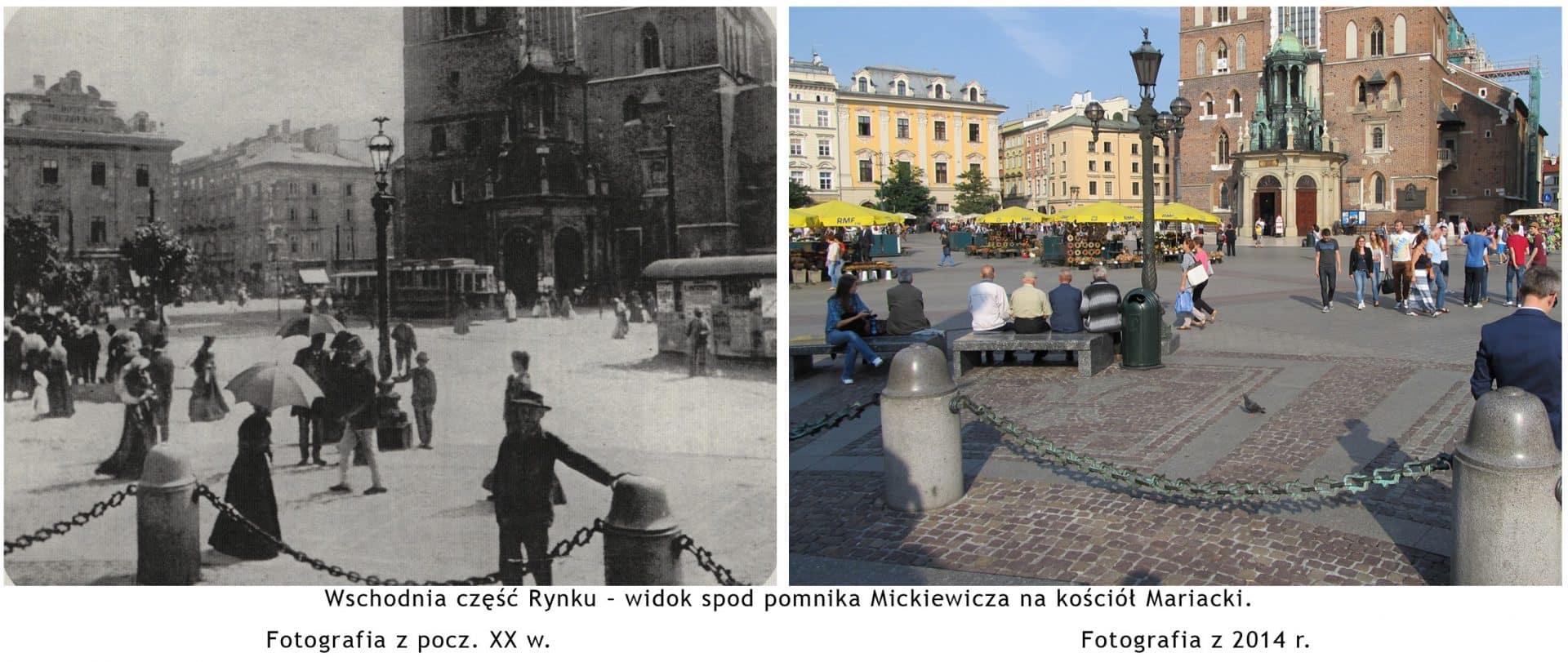 """Rynek Główny w Krakowie. Źródło: """"Wystawa fotografii dawny i współczesny Kraków""""."""