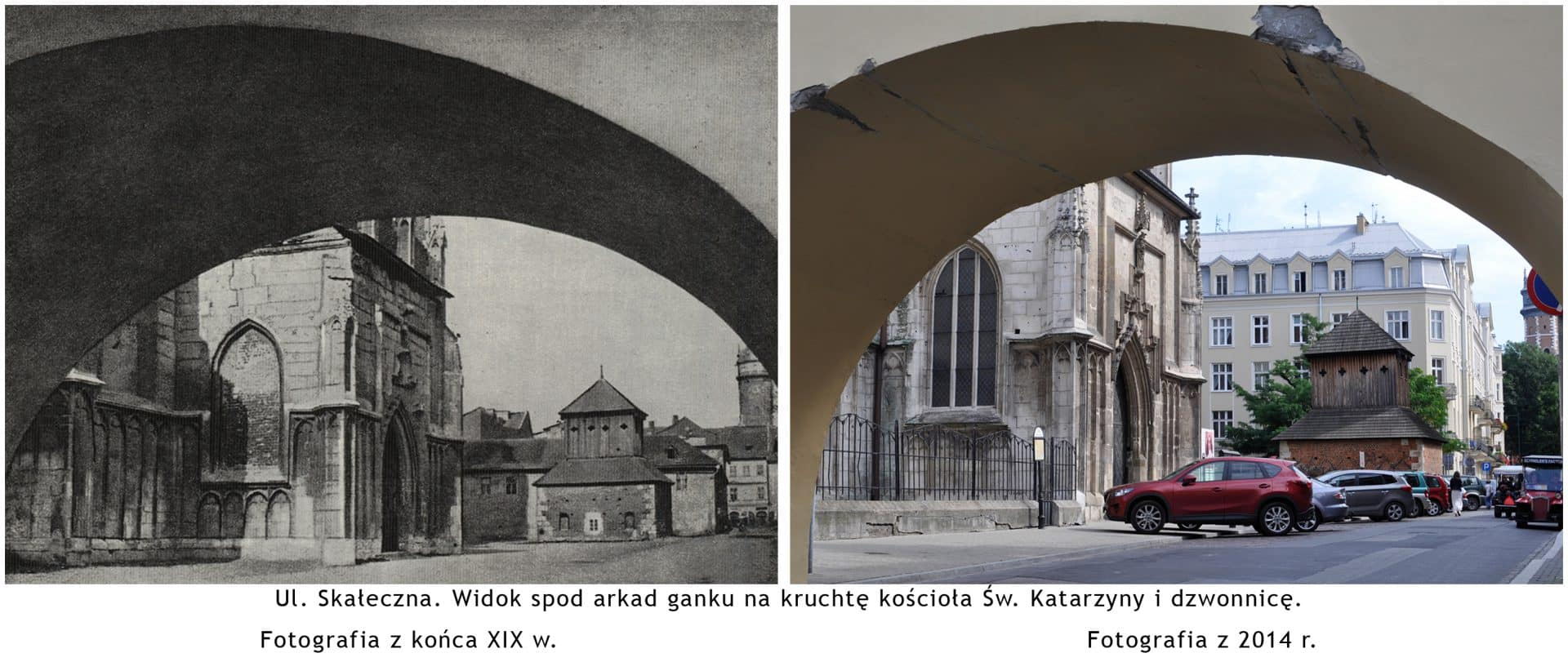 """Ulica Skałeczna w Krakowie. Źródło: : """"Wystawa fotografii dawny i współczesny Kraków""""."""