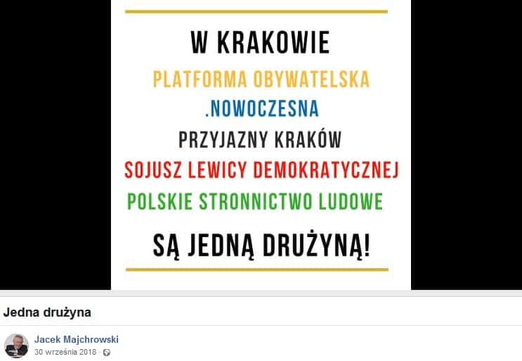 Jacek Majchrowski: wolny od interesów partyjnych samorząd