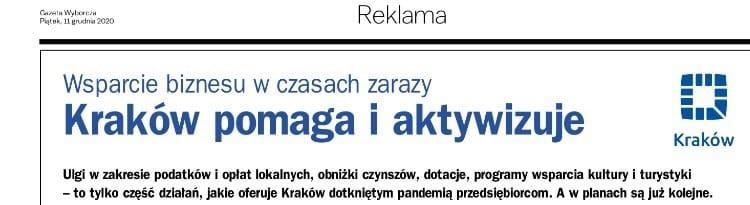 Kraków pomaga i aktywizuje. Kraków.pl. Gazeta Wyborcza Kraków