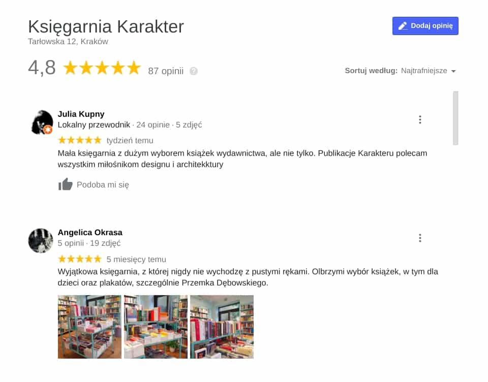 """Księgarnie w Krakowie: Księgarnia Karakter zwyciężyła a kategorii """"Najlepsze książki"""". Nie trzeba jednak konkursu, by zobaczyć, że cieszy się dużą sympatią krakowian."""