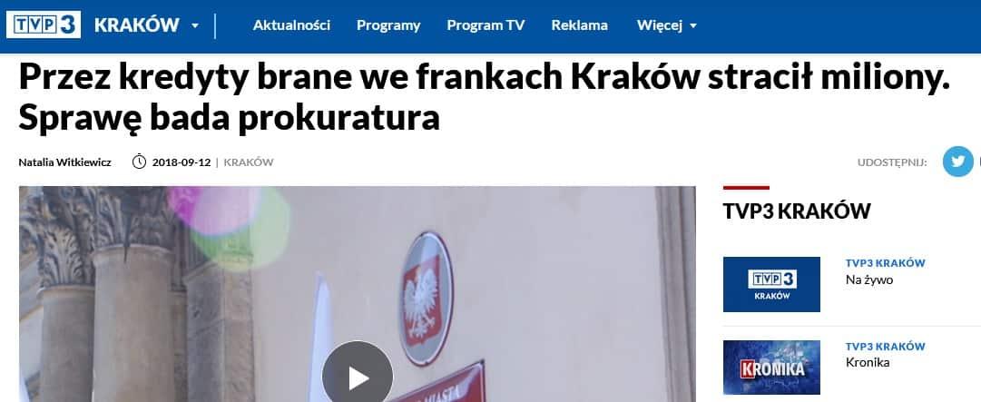 Kredyt frankowy. Kraków.