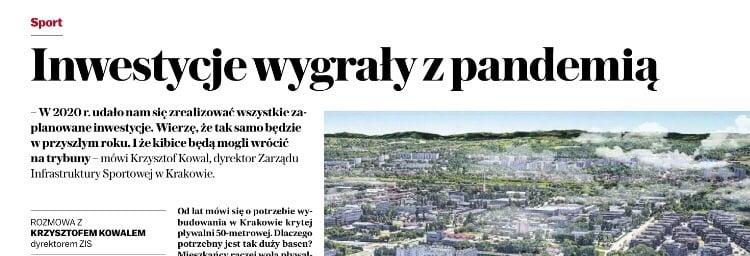 Inwestycje wygrały z pandemią. Kraków. Gazeta Wyborcza Kraków.