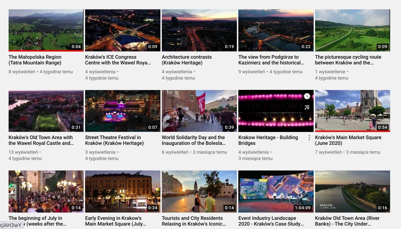 Kraków Heritage You Tube
