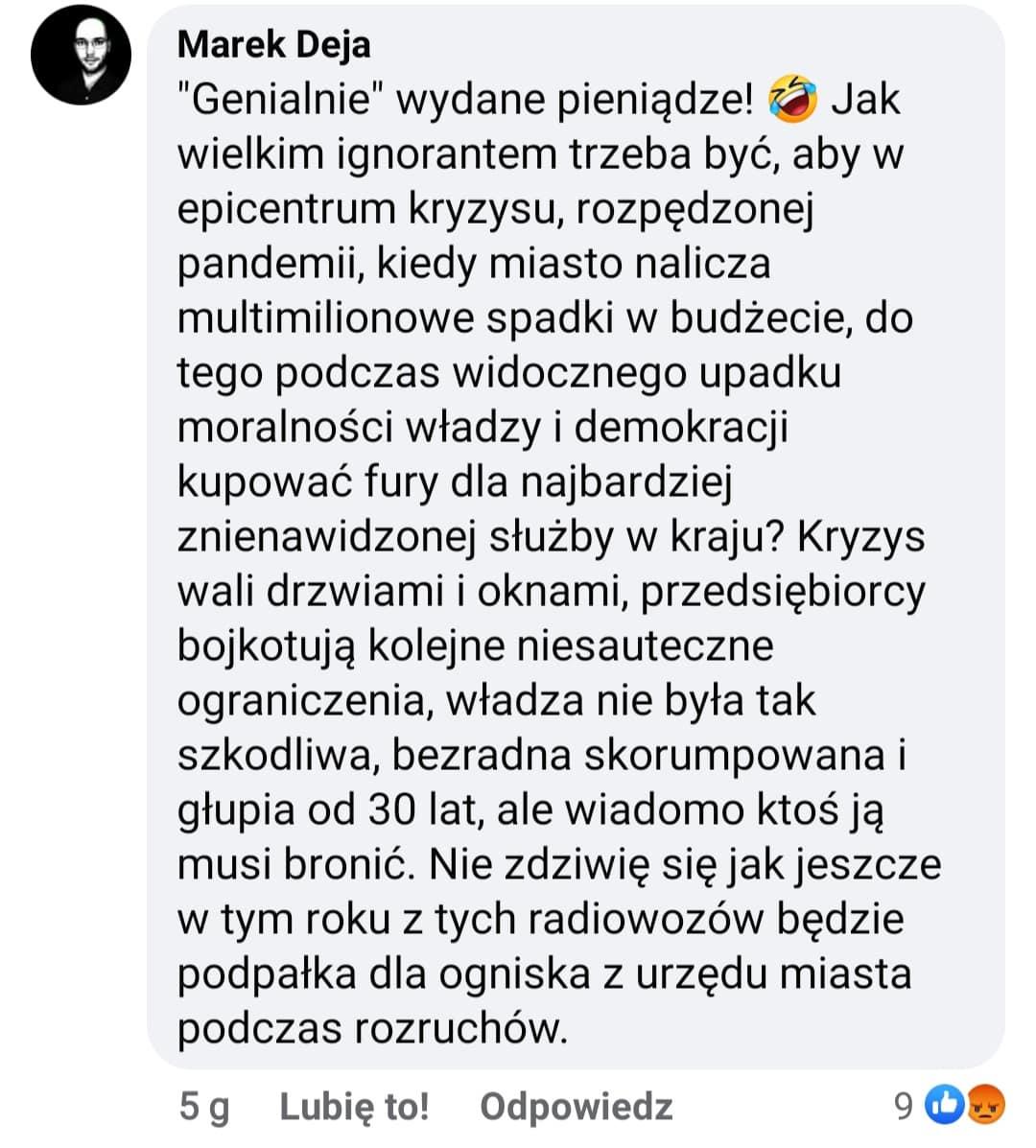 Kryzys Kraków wydatki