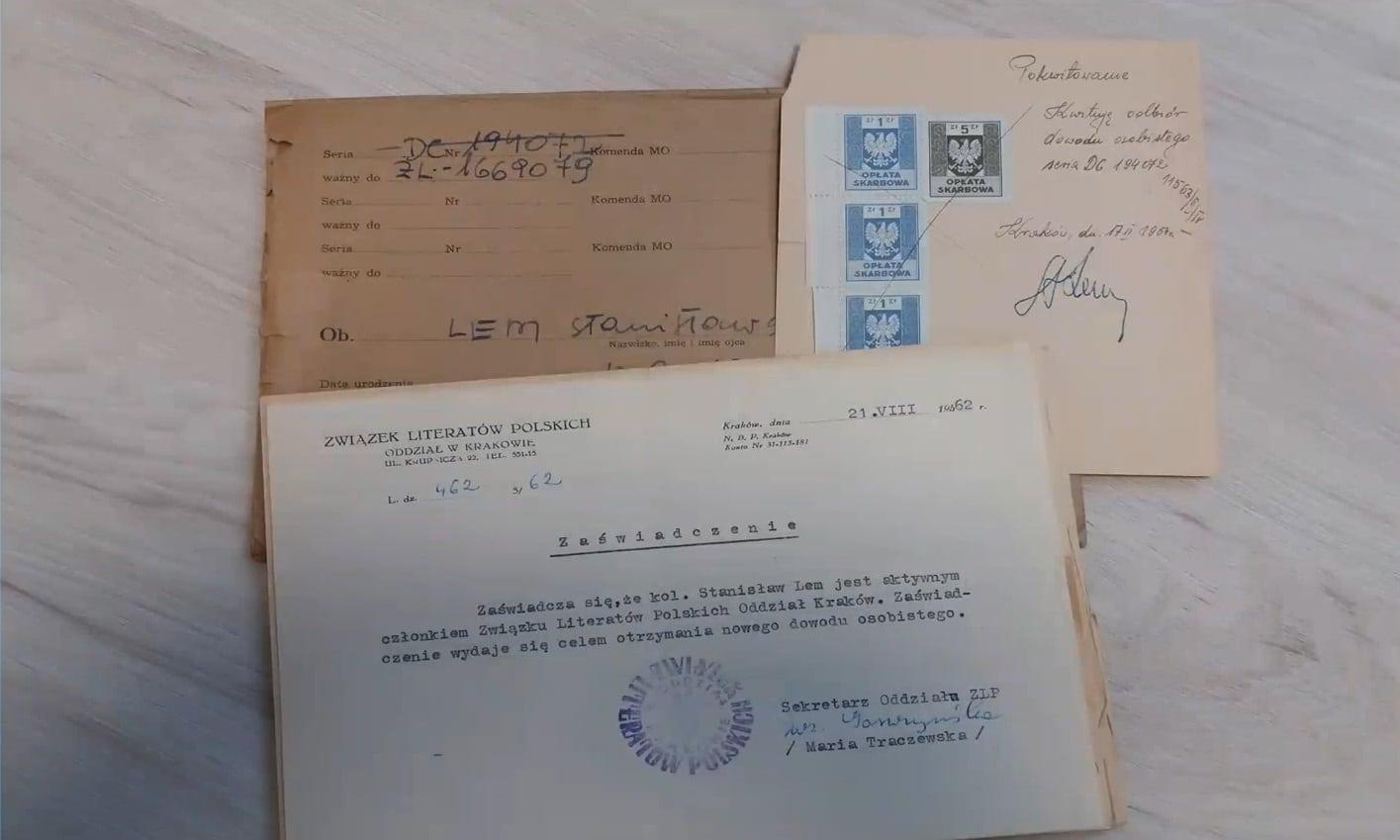 Dokumenty Stanisława Lema.