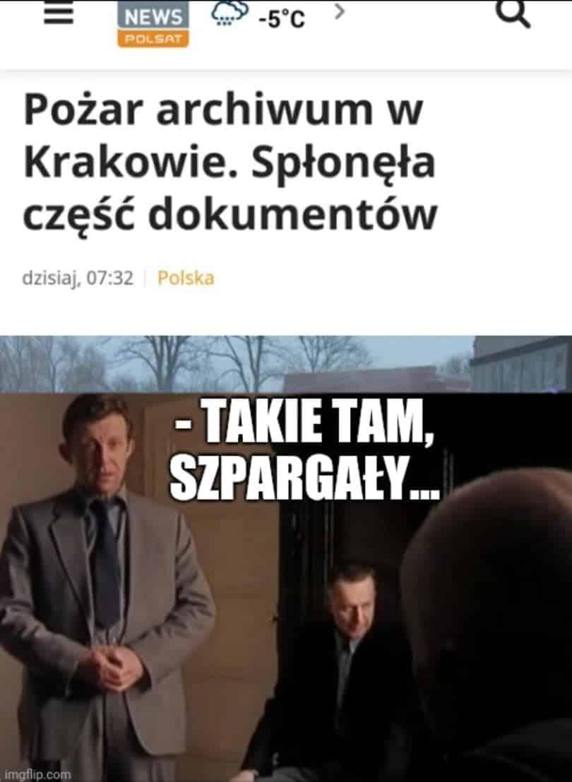 Pożar Archiwum w Krakowie Stopczyk