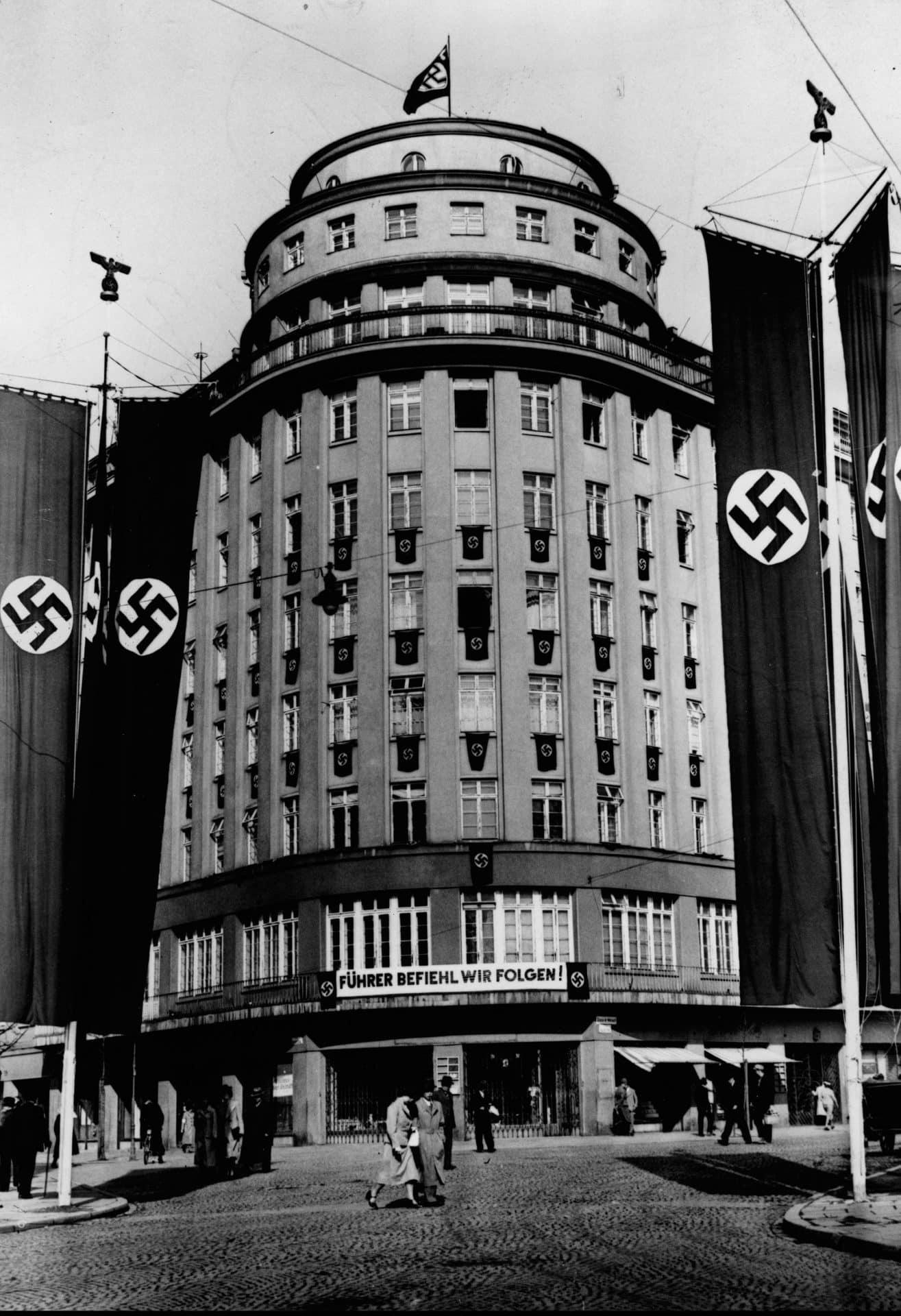 Centrala propagandy Generalnego Gubernatorstwa. Źródło: Narodowe Archiwum Cyfrowe. Niemiecka okupacja w Krakowie