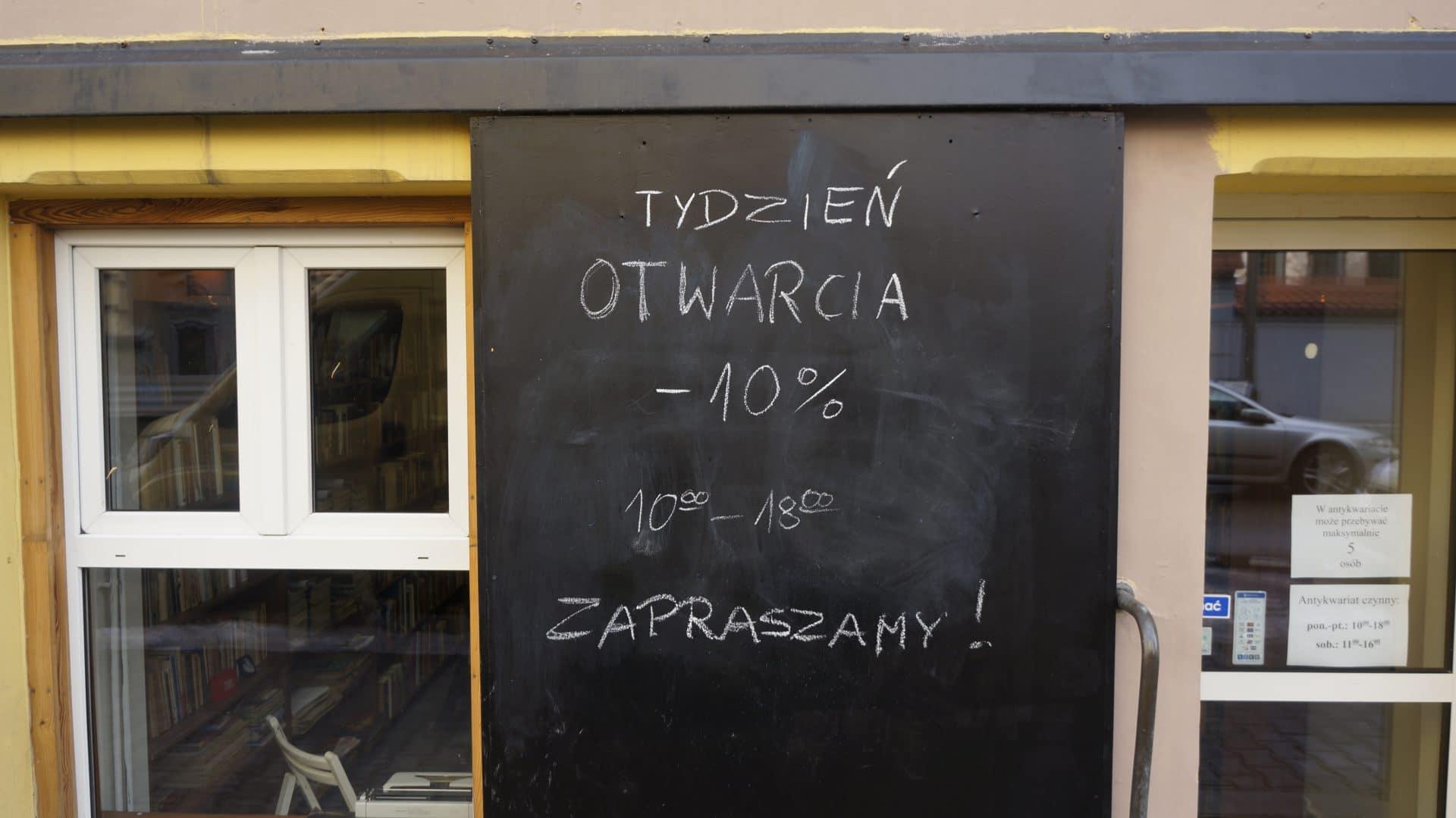 Do końca tygodnia książki można kupić taniej. / Antykwariat w Krakowie.